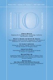 International Organization Volume 65 - Issue 1 -