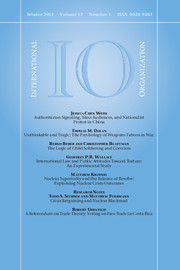 International Organization Volume 67 - Issue 1 -