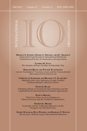 International Organization Volume 67 - Issue 4 -