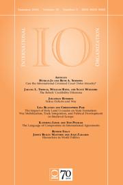 International Organization Volume 70 - Issue 3 -