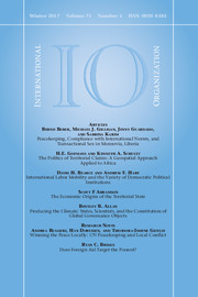 International Organization Volume 71 - Issue 1 -