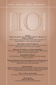 International Organization Volume 71 - Issue 4 -