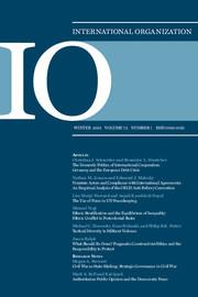 International Organization Volume 72 - Issue 1 -