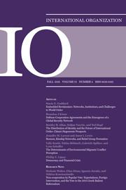International Organization Volume 72 - Issue 4 -