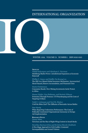International Organization Volume 73 - Issue 1 -