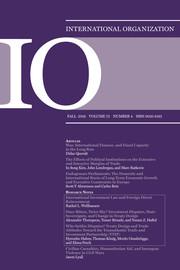 International Organization Volume 73 - Issue 4 -