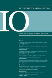 International Organization Volume 74 - Issue 2 -