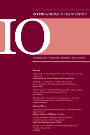 International Organization Volume 74 - Issue 3 -