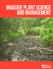 Invasive Plant Science and Management Volume 10 - Issue 3 -