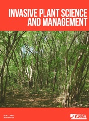 Invasive Plant Science and Management Volume 11 - Issue 1 -