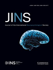 Journal of the International Neuropsychological Society