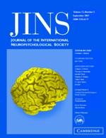 Journal of the International Neuropsychological Society Volume 13 - Issue 5 -