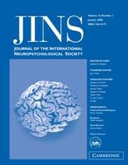 Journal of the International Neuropsychological Society Volume 14 - Issue 1 -