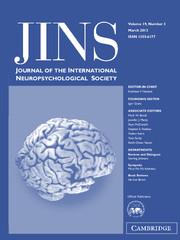 Journal of the International Neuropsychological Society Volume 19 - Issue 3 -