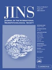 Journal of the International Neuropsychological Society Volume 19 - Issue 7 -
