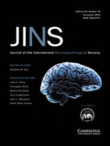 Journal of the International Neuropsychological Society Volume 20 - Issue 10 -