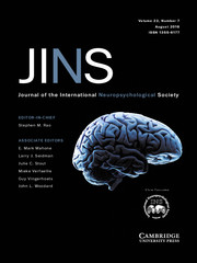 Journal of the International Neuropsychological Society Volume 22 - Issue 7 -