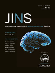 Journal of the International Neuropsychological Society Volume 23 - Issue 5 -
