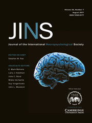Journal of the International Neuropsychological Society Volume 23 - Issue 7 -