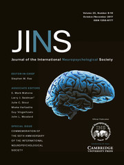 Journal of the International Neuropsychological Society Volume 23 - Issue 9-10 -  Special Issue: Commemoration of the 50th Anniversary of the International Neuropsychological Society