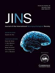 Journal of the International Neuropsychological Society Volume 24 - Issue 10 -