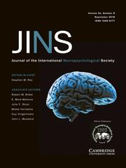 Journal of the International Neuropsychological Society Volume 24 - Issue 8 -