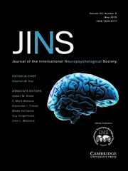 Journal of the International Neuropsychological Society Volume 25 - Issue 5 -