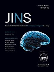 Journal of the International Neuropsychological Society Volume 25 - Issue 8 -