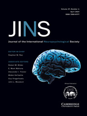 Journal of the International Neuropsychological Society Volume 27 - Issue 4 -
