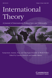 International Theory Volume 12 - Issue 2 -