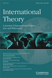 International Theory Volume 1 - Issue 1 -