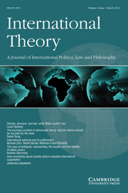 International Theory Volume 4 - Issue 1 -