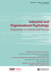 Industrial and Organizational Psychology Volume 10 - Issue 2 -