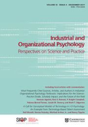 Industrial and Organizational Psychology Volume 10 - Issue 4 -