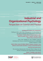 Industrial and Organizational Psychology Volume 11 - Issue 2 -