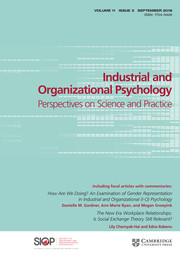 Industrial and Organizational Psychology Volume 11 - Issue 3 -