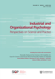 Industrial and Organizational Psychology Volume 12 - Issue 2 -