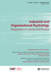 Industrial and Organizational Psychology Volume 8 - Issue 4 -
