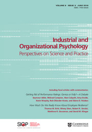 Industrial and Organizational Psychology Volume 9 - Issue 2 -