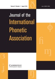 Journal of the International Phonetic Association