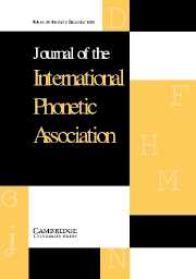 Journal of the International Phonetic Association Volume 34 - Issue 2 -