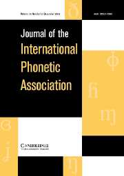 Journal of the International Phonetic Association Volume 36 - Issue 2 -