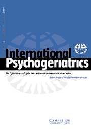 International Psychogeriatrics Volume 16 - Issue 1 -
