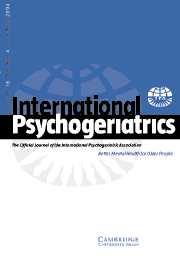 International Psychogeriatrics Volume 16 - Issue 4 -