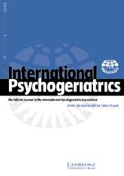 International Psychogeriatrics Volume 17 - Issue 4 -
