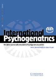International Psychogeriatrics Volume 18 - Issue 1 -