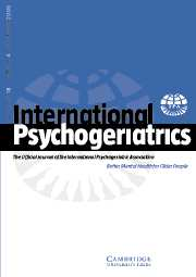 International Psychogeriatrics Volume 18 - Issue 4 -