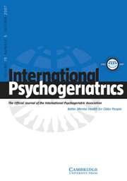 International Psychogeriatrics Volume 19 - Issue 5 -