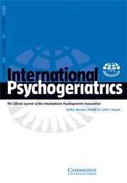 International Psychogeriatrics Volume 20 - Issue 5 -