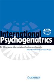 International Psychogeriatrics Volume 20 - Issue 6 -
